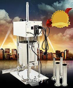 110V/10L Electric Sausage Stuffer Meat Filler Maker Making Machine Commercial