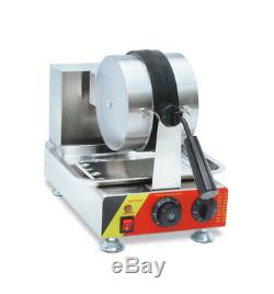110V Electric Rotated Waffle Maker Making Machine Stainless Steel