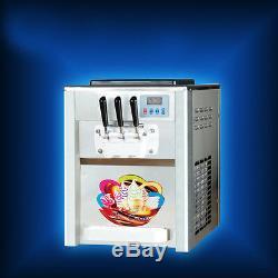 110V US 18L/H 3 Flavor ice cream maker Soft ice cream making machine BQL-818T