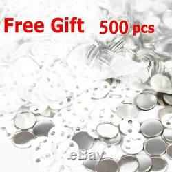 1INCH BUTTON MAKER MACHINE 25MM CLOTHES BAGS Badge Making Kit 200-300 PCS/H