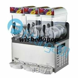 1PCS Commercial 3 Tank Frozen Drink Slush Slushy Making Machine Smoothie Maker
