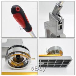 1''/1.25'' Badge Press Making Machine Button Pin Maker +300 Parts +Circle Cutter