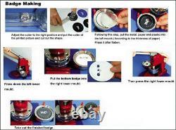 1'' (25mm) Pin Round Button Badge Maker Machine Personalizd DIY Making Badge
