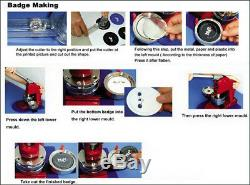 1'' (25mm) Pin Round Button Badge Maker Machine for DIY Making Badge USA STOCK
