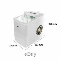 220V Commercial Home Use 15KG Automatic Round Ice Cube Maker Ice Making Machine