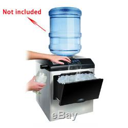 220V Electric Automatic Countertop Bullet Ice Maker Ice Making Machine HZB25