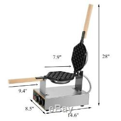 220V Nonstick Waffle Maker 1400W Waffle Making Machine Bubble Shape Egg Cake