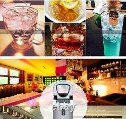 220V Stainless Steel Portable Commercial Ice Cube Maker Ice Making Machine 12kg
