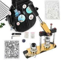 25mm 1 Button Maker Machine 1000 Buttons Making Kit Bags Badge Maker