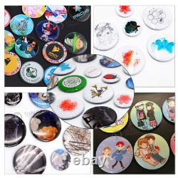25mm-58mm Button Maker Machine Badge Making Punch Press+300 Sets Button Parts