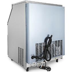 265Lbs Ice Maker Ice Cube Making Machine 120Kg /24H Commercial Sterilizing Lamp