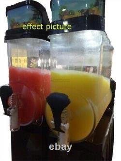 2 Tank Frozen Drink / Slush Making Machine Juice Slushy Smoothie Maker New om