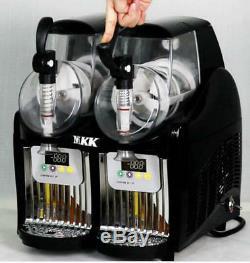 2 Tank Frozen Drink & Slush Slushy Making Machine Juice Smoothie Maker