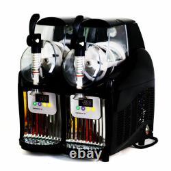 2 Tank Frozen Drink & Slush Slushy Making Machine Juice Smoothie Maker 110V US