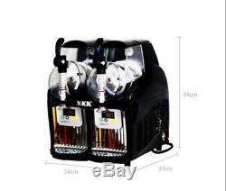 2 Tank Frozen Drink & Slush Slushy Making Machine Juice Smoothie Maker 220V t