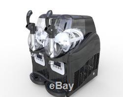 2 Tank Frozen Drink Slush Slushy Making Machine Juice Smoothie Maker 22L M