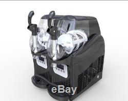 2 Tank Frozen Drink Slush Slushy Making Machine Juice Smoothie Maker 22L ss
