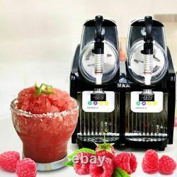 2 Tank Frozen Drink Slush Slushy Making Machine Juice Smoothie Maker 22 L