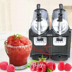 2 Tank Frozen Drink Slush Slushy Making Machine Juice Smoothie Maker 2-2L