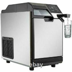 2 in 1 Commercial Ice Maker Ice Making Machine with Water Dispenser 110LBS 24Hrs