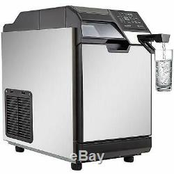 2 in 1 Commercial Ice Maker Ice Making Machine with Water Dispenser 78LBS in 24Hrs