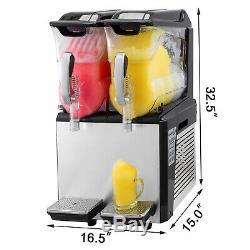 2x10L Slushy Machine Slush Making Machine Frozen Juice Drink Smoothie Maker