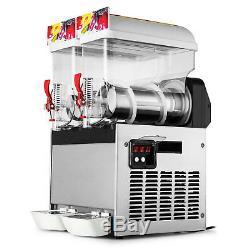 30L Commercial Frozen Drink Slush Slushy Making Machine Smoothie Ice Maker 2x15L