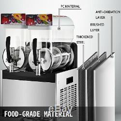 30L Frozen Drink Slush Making Machine Smoothie Maker Fit Granita Drinks Business