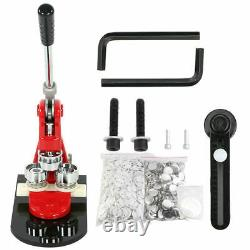 32MM Badge Maker Machine Making Pin Button Press Cutter With 1000 Circle Button