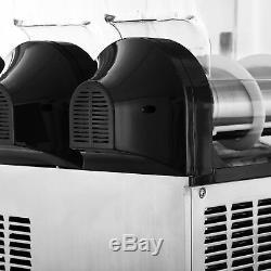 3X15L Commercial Frozen Drink Slush Slushy Making Machine Smoothie Ice Maker