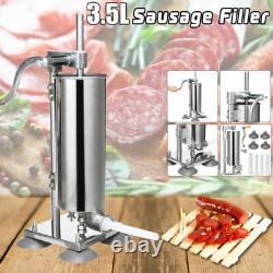3.5L Manual Sausage Filler Stainless Steel Salami Meat Making Machine Food Maker
