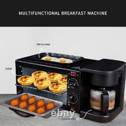 3 In 1 Breakfast Making Machine Multi Drip Coffee Maker Household Bread Pizza