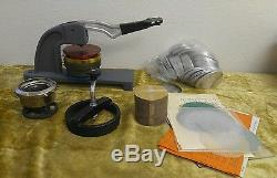 3 Round Badge Maker Machine for Making DIY Badge Pin Buttons With Extras Shown