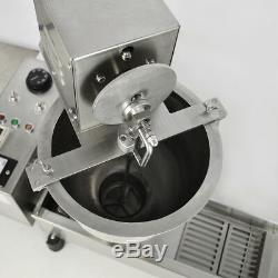 3 Sets Mold 220V Commercial Automatic Donut Maker Making Machine, Wide Oil Tank