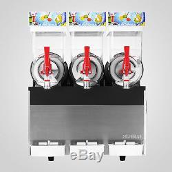 3 Tank Slush Slushy Making Machine 45l Slushy Smoothie Air Cooling Ice Maker
