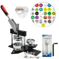 50mm Black Button Making Machine Badge Maker Punch Press with 300PCS Free Parts