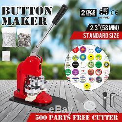 58mm(2.28) Button Badge Maker press 500 Pcs 200-300pcs/h machine making kit