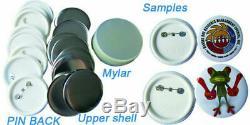 58mm Button Badge Maker Machine Badge Making Kit + 1000 Button Supplies + Cutter