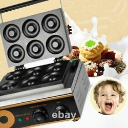 6 Holes Electric Donuts Maker Commercial Non-Stick Round Cake Making Machine