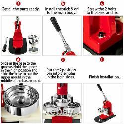 75mm 3 Button Maker Badge Press 500 Pcs Circle Cutter Manual Making Machine