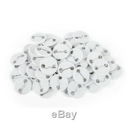 75mm Button Maker Machine 3 inch Rotate Badge Make with 100 Sets Circle Button