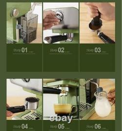 850W Household Espresso Machine Latte Cappuccino Coffee Maker Steam Function