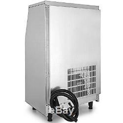 88Lbs Commercial Ice Maker Ice Cube Making Machine 40Kg With28lbs Ice Storage SUS