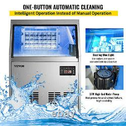 90-100LBS Commercial Ice Maker Ice Cube Making Machine Reservation Function SUS