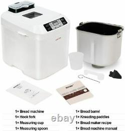 Acuma Bread Maker Bread Making Machine 12 Programmes 2LB 550W Breadmaker White
