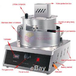 Automatic Gas Popcorn Making Machine Single Pot Spherical Popcorn Maker