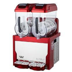 CE Commercial 2 Tank Frozen Drink Slush Slushy Making Machine Smoothie Maker