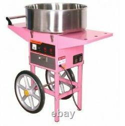 Candy Floss Making Machine Cart Pink Cotton Candyfloss Maker Free 1000 Sticks