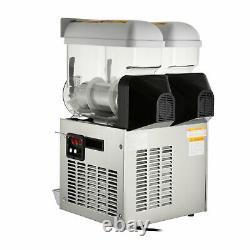 Commercial 2 15L Frozen Drink Juice Slushy Making Machine Smoothie Maker 30L