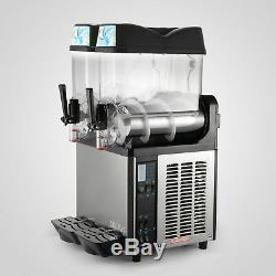 Commercial 2 Tank Frozen Drink Slush Slushy Making Machine Smoothie Maker
